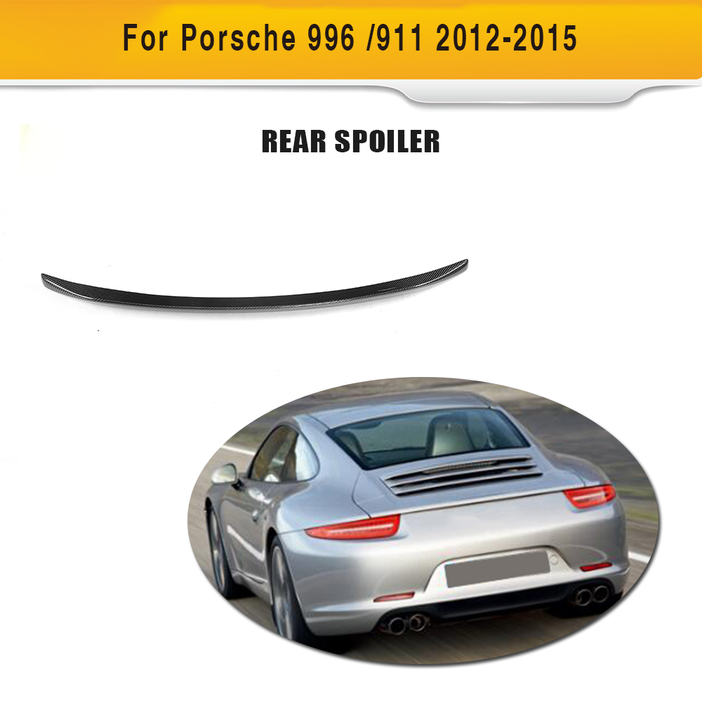 Car Styling Carbon Fiber Car Rear Spoiler Boot Wing Lip for Porsche 991 2012-2015 car styling carbon fiber auto rear wing spoiler lip for vw scirocco 2010 2012