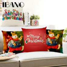 Christmas Pillow Cover 45x45cm Cushion Cover Polyester&Linen Car Pillow Case Christmas Decorations For Home 1PCS/Lot