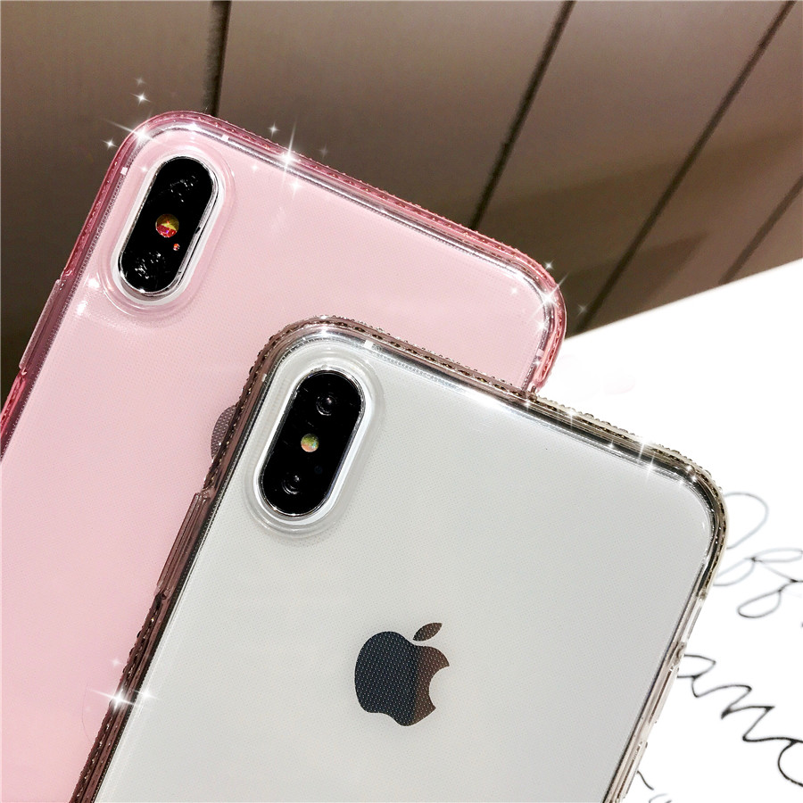 Luxury Diamond Bling Cover for Huawei Y6 Prime 2018 Y9 Honor 7A 8X 9 Lite  P9 P20 Pro Nova 3 3i Soft TPU Clear Cover Phone Case