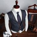Новые Моды для Мужчин Джинсы Жилет Корейский Стиль Моды Тонкий Модный Причинно Жилет CJ148