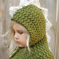 Fashion Cute Baby Kids Knited Crochet Dinosaur Clothes Photo Outfits Hat Photography Baby Hats Caps For