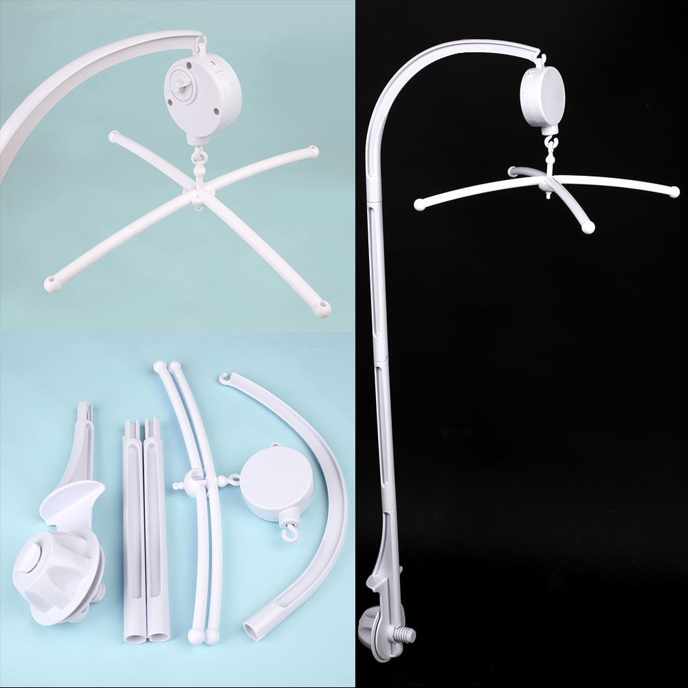 Baby bed holder - Diy Hanging Baby Crib Mobile Bed Bell Rotate Musical Toy Holder Arm Bracket