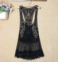 Hot New Women Lace Tunic Sexy Swimsuit Bikinis Smock Cover Up Cotton Blouse Pareo Sweet Lady
