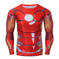 Marvel Superhero Ironman Tony Stark Men Long Sleeve 3D Printed T-shirt Fitness Compression Tops S-4XL