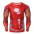 Tony Stark Ironman Marvel Superhero Men Manga Comprida 3D Impresso T-shirt De Compressão De Fitness Tops S-4XL