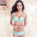 Ms. Cheap 2016 new women girl Fashion sexy best wave Seamless one-piece underwear deep v small chest gather adjustable bra sets