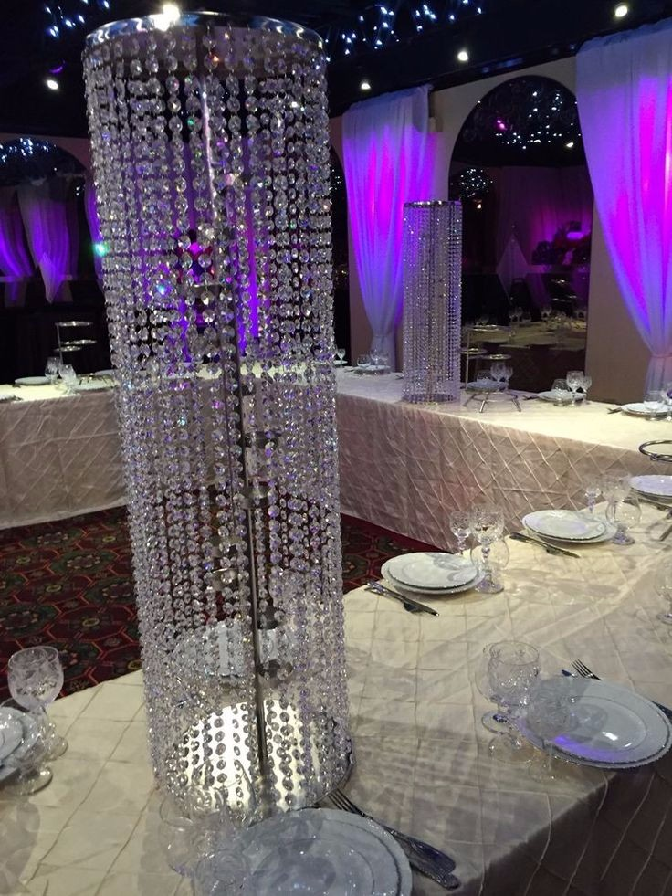 Crystal Wedding Centerpiece Crystal Beaded For Candle