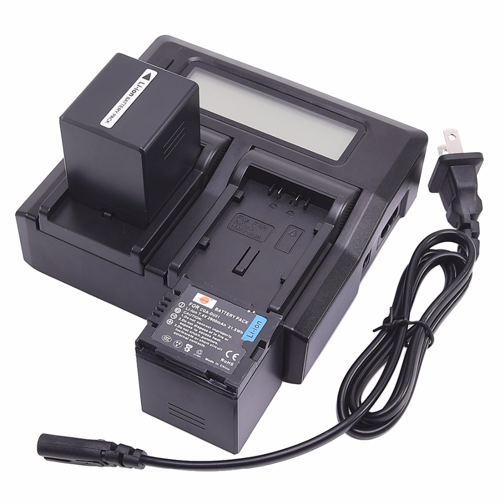 DSTE 2x Li-ion CGA-DU21 Battery + 1.5A Dual Charger for Panasonic DZ-GX20 DZ-GX25M DZ-MV350 NV-GS10 Smart Digital Camera 1pcs cga s006 cga s006ebattery charger car charger for panasonic cgr s006a 1b bp dc5u cgr s006e