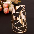 Comiya Hollow out thick gold plated punk style alloy wide bulk india jewelry pulseiras Bangles artigos para festa de aniversario