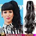 Бразильский натуральных волос хвост реальные Человеческие волосы хвост коготь клип хвостики наращивание волос длинные Волнистые завитые ponytail для чернокожих женщин