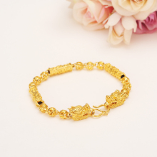 Gold  dragon beads Bangle for Women Dubai Bride Wedding Ethiopian Bracelet Africa Bangle Arab Jewelry  Charms Bracelet gifts jhplated one piece womens wedding bridal bangle bracelet dubai bangle jewelry africa arab gold color