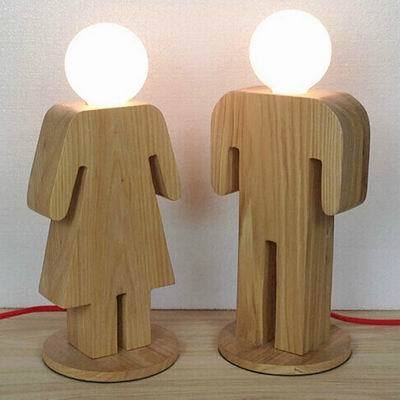 2015 hot sell hotel modern wooden desk lamp home wood table lamp boygirl table in table lamps from lights lighting on aliexpresscom alibaba group