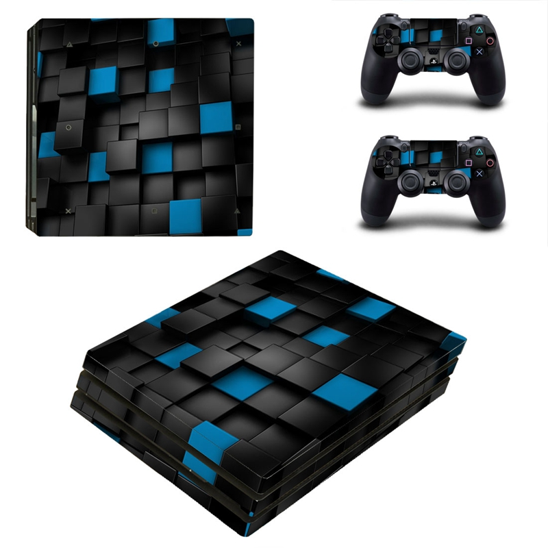 HOMEREALLY PS4 Pro Skin Blue Space Box Vinly HD Sticker Cover For Playstaion 4 Pro Console and Controller Skin Ps4 Pro Accessory