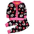 2017 Nueva otoño ropa de Niños sets bebé niñas suéteres patrón ropa de los cabritos de punto suéter juego de las muchachas