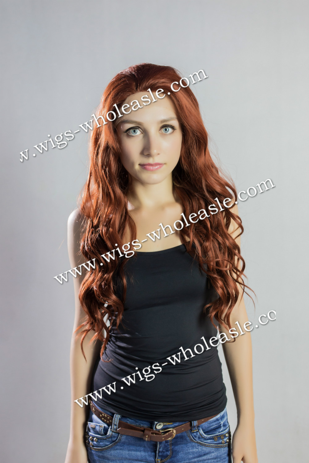 ФОТО Custom Long Subtle Wavy Hairstyle Reddish Auburn Synthetic Lace Front Wig about 24 Inches