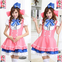 Helloween cosplay calidad japón anime maid costume make up party dress maid cosplay fantasia carnaval disfraces b-3927