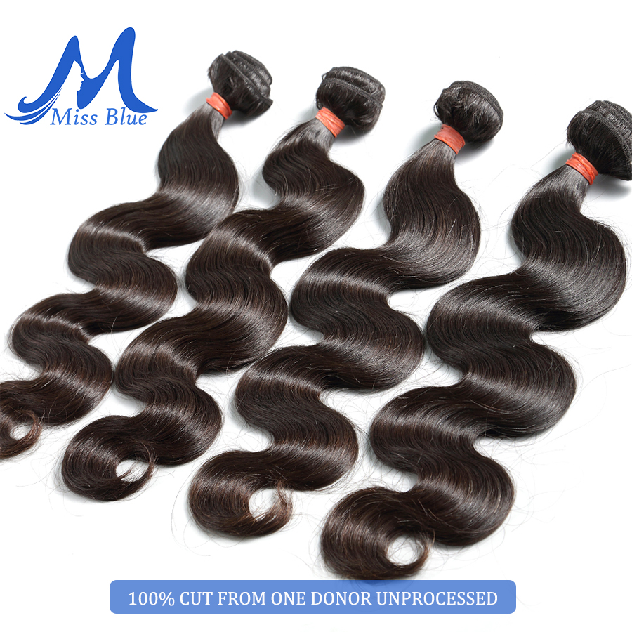 Missblue 10A Mink Quality Brazilian Virgin Hair Bundles Body Wave Grade 10A Raw Human Hair Weave Bundles Extension 1 3 4 P/Lots 7