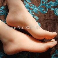 23 cm 38 # Silikon Kadın Sahte Ayak, İç-Kemik Içinde, Ayak Modeli, Ayakkabı Modeli F511