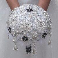 In Stock High Quality Bridal Wedding Bouquet Luxury Bling Crystal Diamond Bridal Bouquet Full Diamond Wedding Bouquet W988M