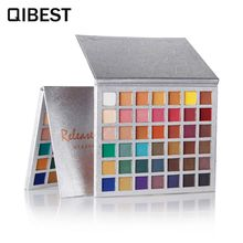 QIBEST Matte Make Up Palette Shimmer Pigmented Eye Shadow Powder Cosmetic Ruby Rose Glitter Smoky Nude Eye Shadow Paletka Cieni недорого