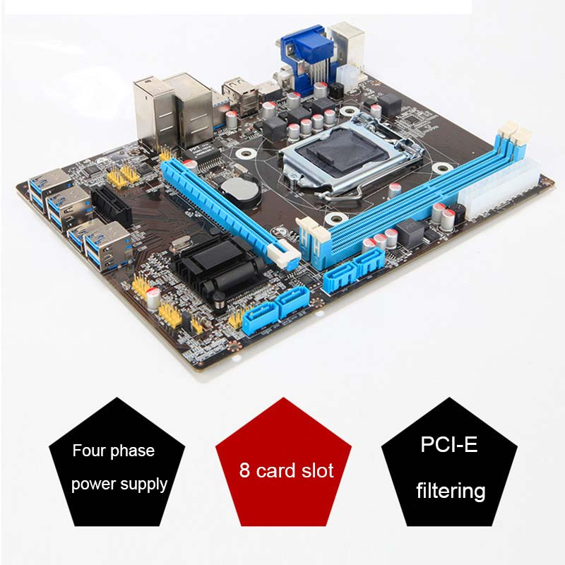 B85 BTC+ETH Mining Bitcoin 8 PCI-E USB3.0 directly Slots Mainboard for Intel XXM8 prypto bitcoin for dummies