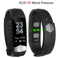 CD01 Bluetooth Smart Band ECG Heart rate Blood pressure monitor Smart wristband Pedometer Fitness Bracelet For IOS Android phone
