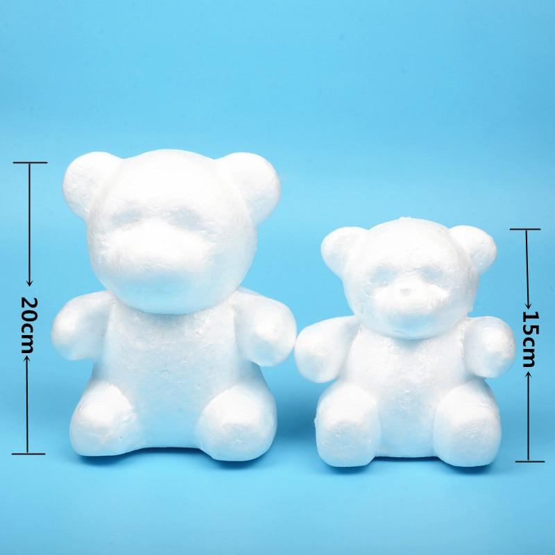 4 size Polystyrene Styrofoam Foam Ball Rose Bear White Craft For DIY Party Decoration Wedding New Year Valentines Day Gift 3