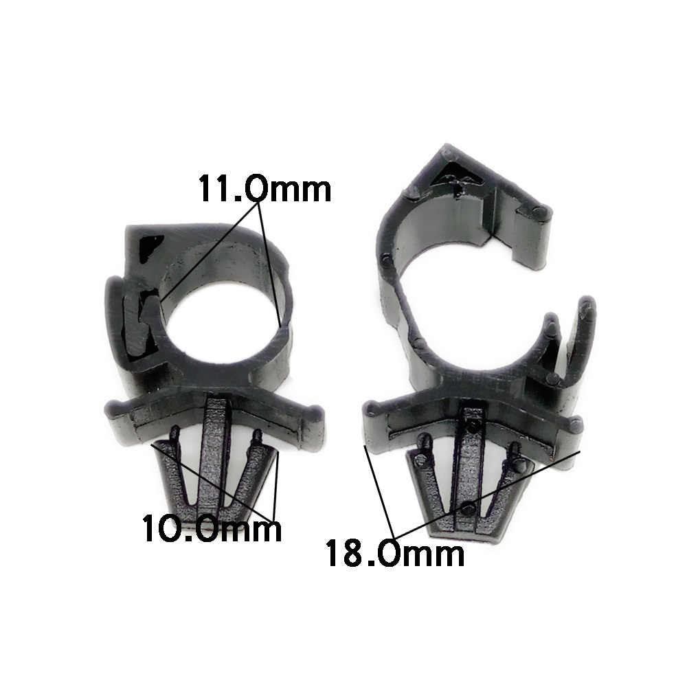 small resolution of  cnikesin 10x high quality car wiring harness fastener for all car auto route fixed clips corrugated