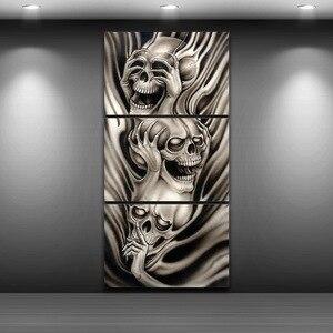 Abstratos crânios spray pintura a óleo decoração impressa para casa artístico impresso desenho da lona quadro de arte da parede tp0007