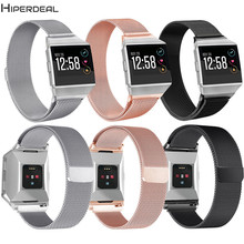 HIPERDEAL Luxury 169-204mm Milanese Stainless Steel Replacement Watch Strap Bracelet For Fitbit Ionic Watch Smart Watch OC3A