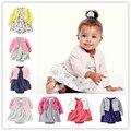 2016 бренд карт девочки одежда детские наборы 100% хлопок Комбинезон + dress + шорты dress новорожденных малышей девушка одежда