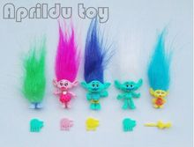 1set New Trolls Dreamworks Movie Trolls Action Figure Toys Poppy Branch Kawaii Cartoon Trolls Dolls Toys for Children Kids  6pcs lot trolls poppy branch biggie action figure toys cartoon moive brinquedos dreamworks trolls hug time poppy figure doll toy