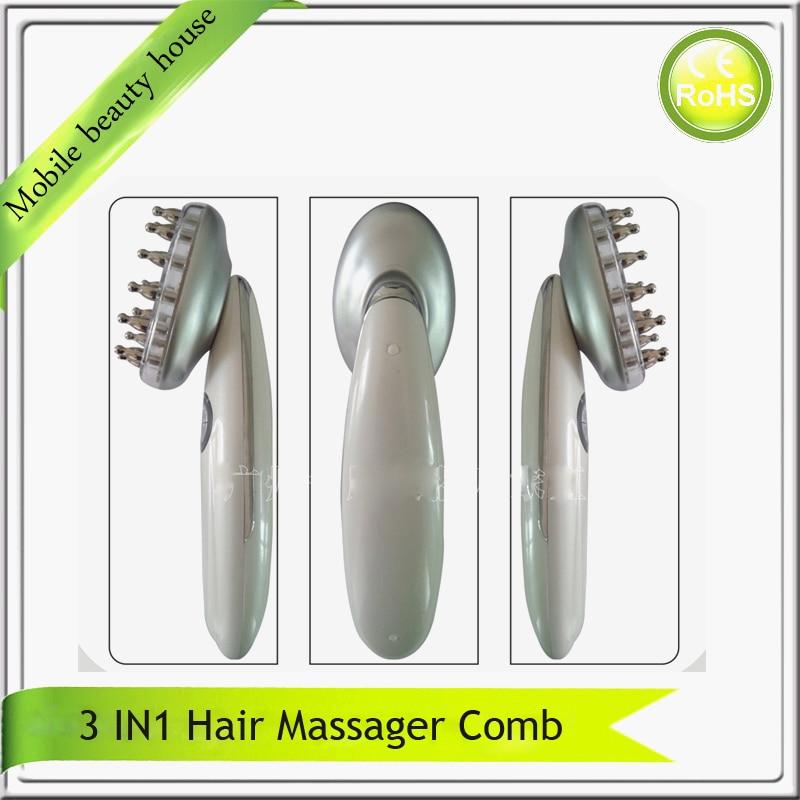 3 в 1 электрический Pro био-коллаген микроток лазер + из светодиодов фотон терапия волос руководитель рост мини-массажер гребень для волос-пот...