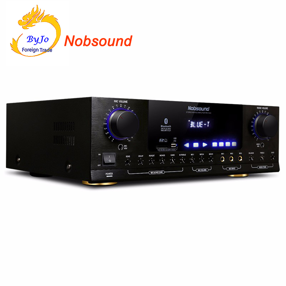 Nobsound PM1000 Professional KTV karaoke Bluetooth amplifier Support MP5 USB SD Play APE Music support 220V