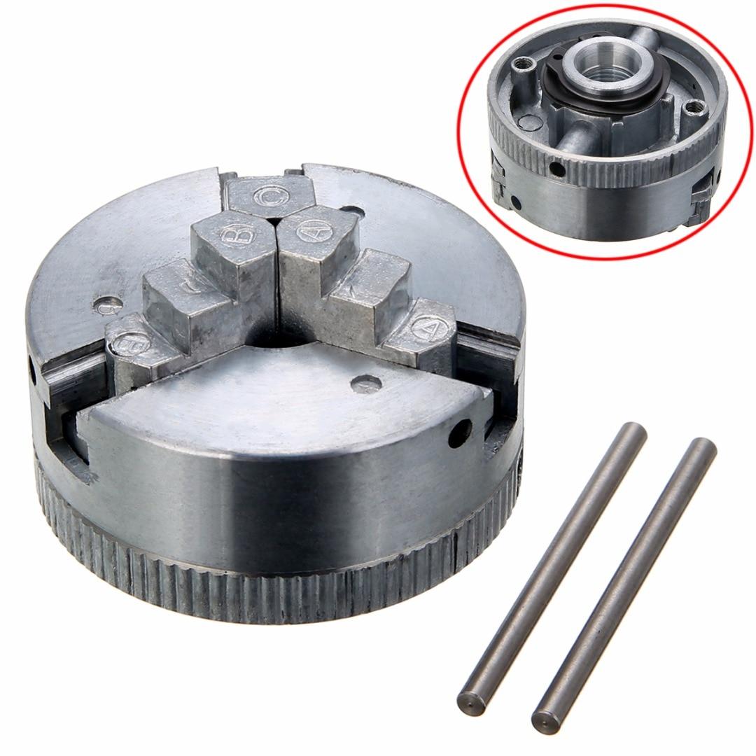 1pc Hardened M12 x1 Three 3 Jaw Chuck 45x20mm Self Centering with 2pcs Lock Rods For Metal Lathe Machine все цены