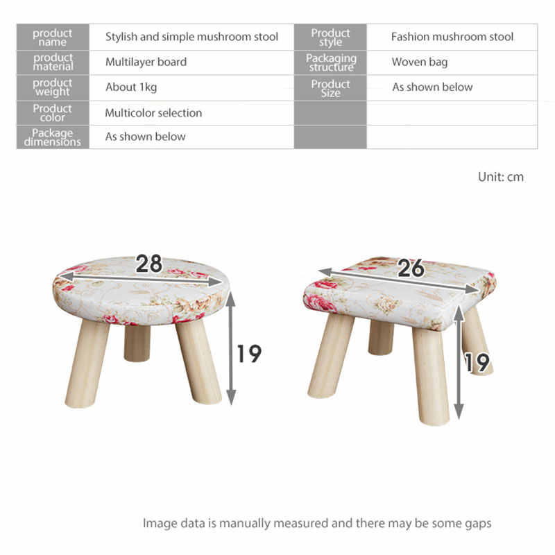 Peachy Modern Luxury Upholstered Footstool Nordic Round Pouffe Stool Wooden Leg Pattern Round Fabric 4 Legs Pdpeps Interior Chair Design Pdpepsorg