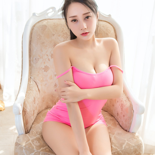 Sexy Women Strap Tight Pencil Cute Dress Ice Silk Smooth See Through Micro Mini Dress Transparent Bandage Dress Stage Wear F10 5