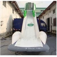 Ocean summer games Inflatable houseboat slide/ giant PVC yacht floating water slide