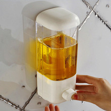 Soap Dispenser Bathroom Wall Mount Shower Shampoo Lotion Container Holder System Non perforated Hotel Toliet цена