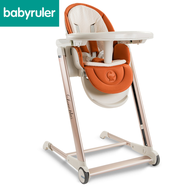 Babyruler золотой раме кресло детское питание многофункциональный портативный ребенок высокий стул складной детский стол Четыре цвета повышение
