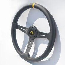 6 отверстий 70 мм PCD натуральная кожа изменение руль дюймов 14,5 дюймов Универсальный гоночный автомобиль Руль