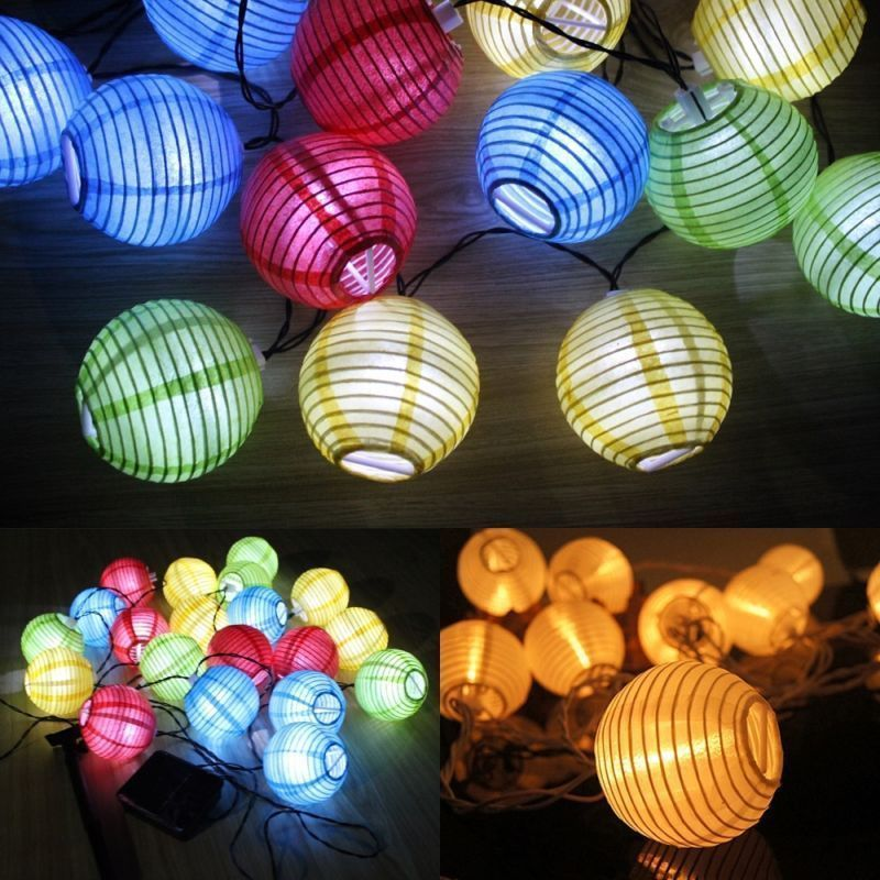 new year china lantern led strip 10 led solar led lampionkette lichterkette mit christmas decorations for home outdoor navidad in christmas from home - Chinese Christmas Decorations