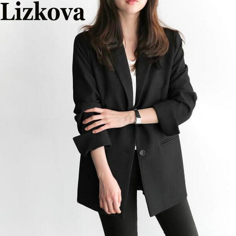 2019 Spring Autumn Women Black Blazer Office Lady Blazer Mujer Women Blazers And Jackets Chaqueta Mujer