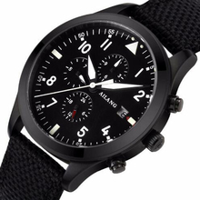 2017 High Quality Mechanical Watch Brand Watch Night Light multi-function Automatic Military Pilot Waterproof Black Cloth Strap