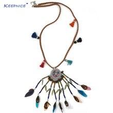 Новое богемное длинное ожерелье ручной работы в стиле бохо с