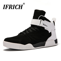 Mens Shoes Casual Flat Sneakers Large Size 39 46 Mens Shoes Casual Footwear Black White High Top Sneakers for Men Walking Shoes