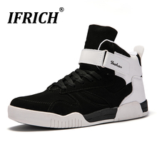Mens Shoes Casual Flat Sneakers Large Size 39-46 Footwear Black White High Top for Men Walking