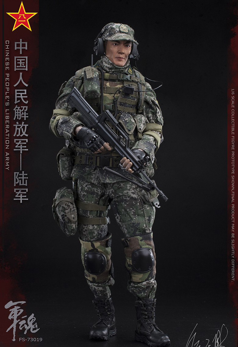 1/6 Scale Chiese People's Liberation Army Soul-Series Army Machine Gunner Military Solider Action Figure Full doll collection 5