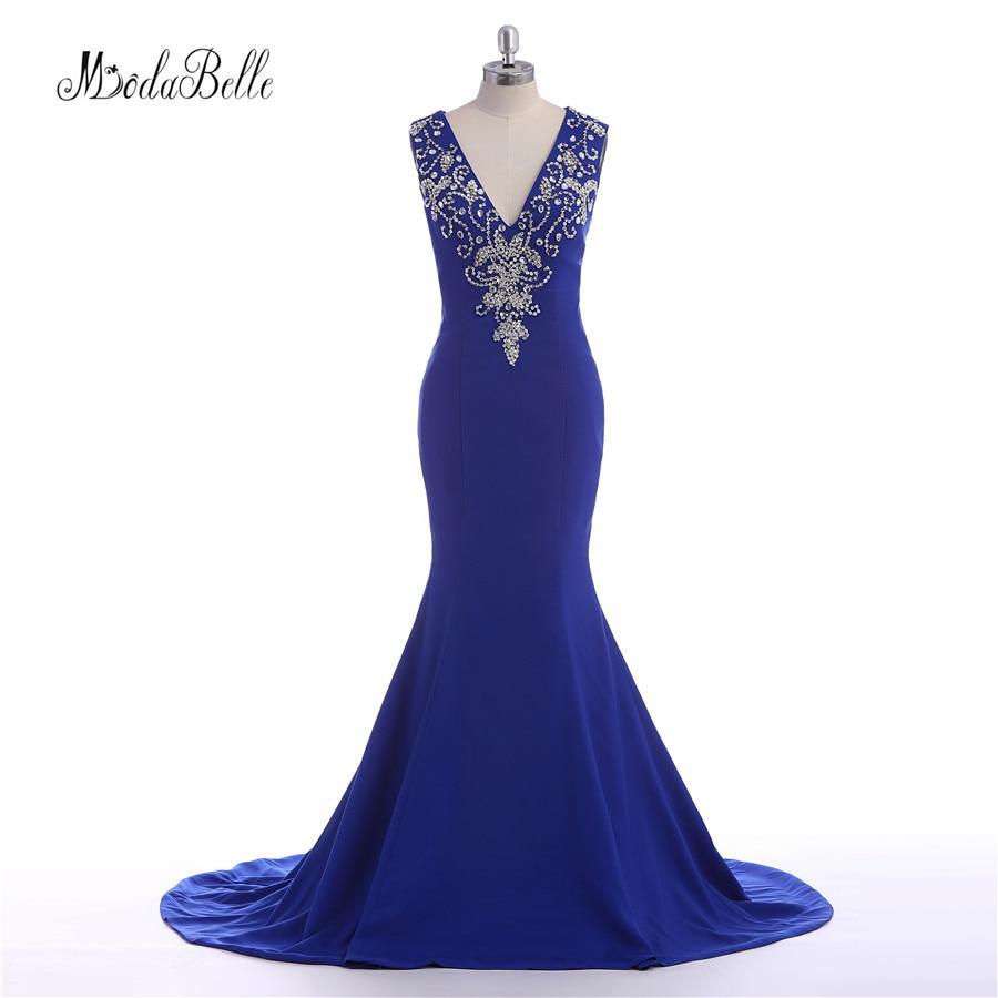modabelle Open Back Vestido Noche Rhinestone Evening Gown Long Satin ...