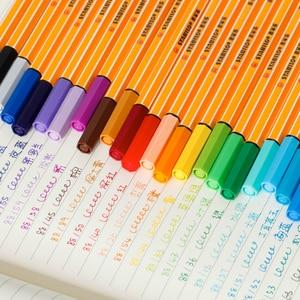 Image 3 - STABILO 25pcs Fiber pen Germany Stabilo 88 fineliner sketch pen 0.4mm processional Marker pen Paperlaria colored gel pen Escolar